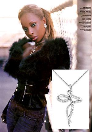 Mary J. Blige in KC Designs Diamond Cross Necklace