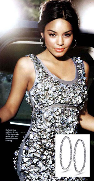 Vanessa Hudgens in KC Designs Diamond Inside Outside Earrings
