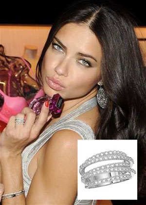 Adriana Lima in KC Designs Right Hand Ring