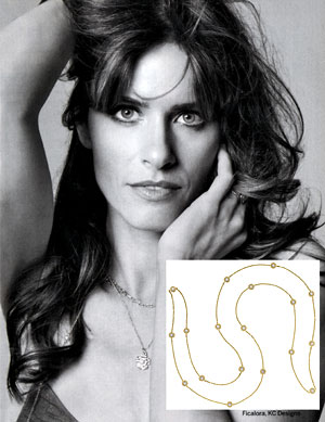 Amanda Peet in KC Designs Diamond By The Yard Necklace