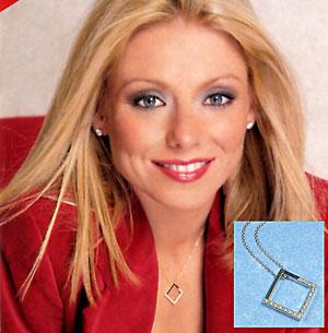 Kelly Ripa in KC Designs Diamond Square Necklace