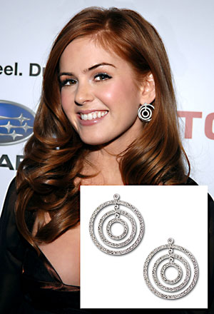 Isla Fisher in KC Designs Diamond Circle Earrings