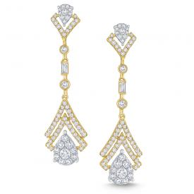 14k Gold and Diamond Statement Earrings
