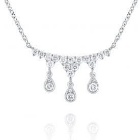 14k Gold and Diamond Tiara Necklace
